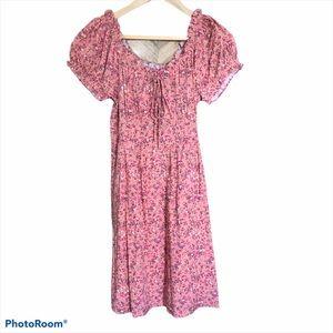 JCrew Floral Peasant Mini Dress 2